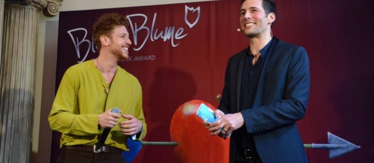 Daniel Donskoy und Alexander Mazza  Verleihung des Blaue Blume Award 2019 im Cafe Grosz in Berlin am 06.02.2019 Foto: BrauerPhotos / Walterscheid